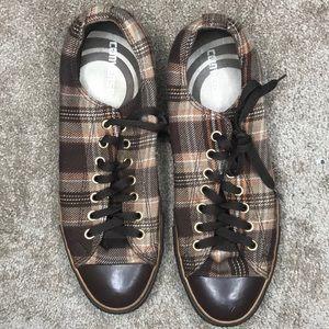 Brown Plaid Converse